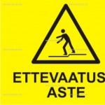 Kollane hoiatussilt, siltide müük, siltide valmistamine
