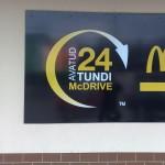 mc donalds reklaam, reklaamsildid, sildid, mc reklaam, 8 mm PVC, 10 mm PVC