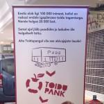 rullitav banner, keritav banner, kokkupandav rollup stend, rollup hind, toidupanga reklaam