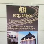 barons hotel reklaam, rollup stend, reklaamikandja,digitrükk