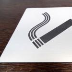graveerimisplastikust silt, graveeritud silt, uksesilt, suitsetamine keelatud, suitsukeelu silt, uksesilt