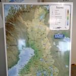 magneettitaulu, mainosjuliste, alumiinirunko, Suomen kartta