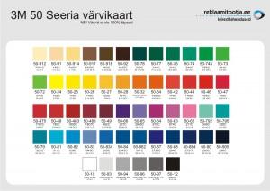 Autokleebised - värvikaart